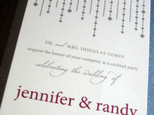 Deco Wedding Invitations