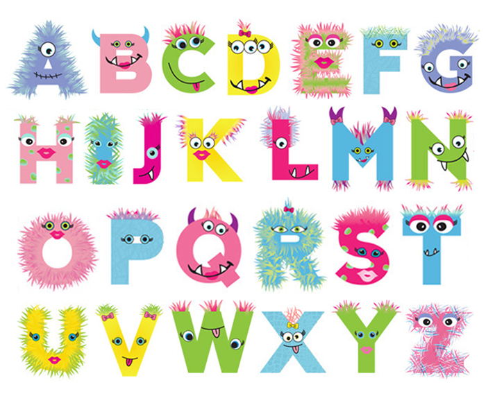 Girly-Monster-Alphabet-Psychobabyonline