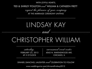 Modern Wedding Invitations Black