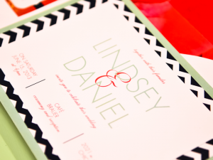 Chevron Preppy Wedding